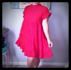 Beautiful flowy red dress